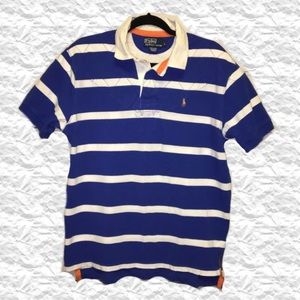 Polo Ralph Lauren Blue and White Striped Polo